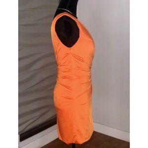 Jovani Dresses - Jovani One Shoulder Orange Gem Studded Mini Dress